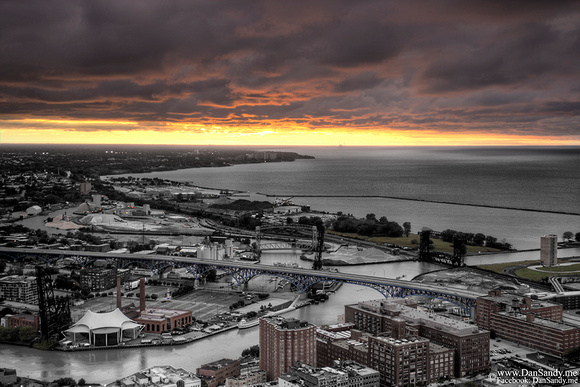 "2014-09-22 - Projection competition - ""Cleveland Sunset"