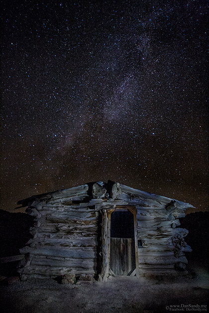 "2015-02-07 - First Place - Pictorial Competition (Color Category) - ""Wolfe Ranch under the Milky Way"""
