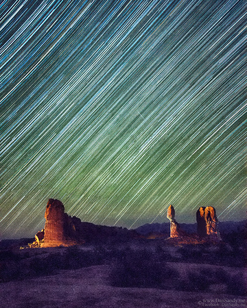 "2015-02-07 - Third Place - Pictorial Competition (Color Category) - ""Star Trails at Balanced Rock"""
