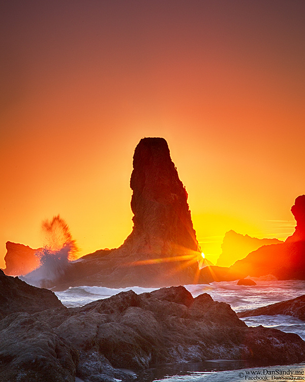 """2017-07-14 - Did Not Place - Nature competition - """"Sea Stack Sunset Surge"""""""