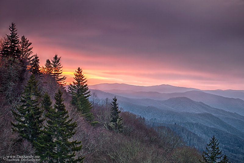 "2016-09-23 - 1st Place - Nature Competition - ""Sunrise in the Smoky Mountains"""