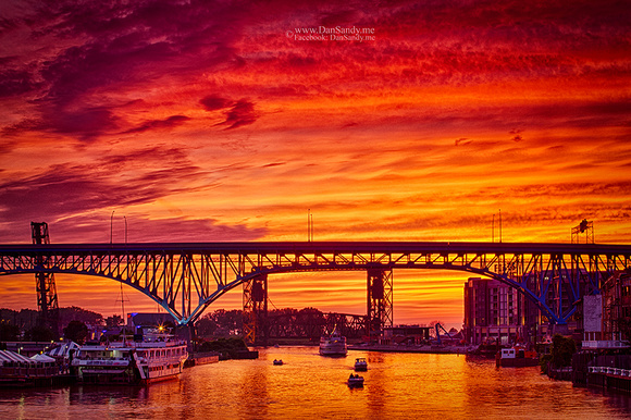 """Summer Solstice Sunset on the Cuyahoga"" -  Third place - Pictorial Competition"